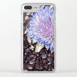Coffeebeans & Artichoke Clear iPhone Case