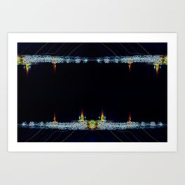 Electric Candlelight Art Print