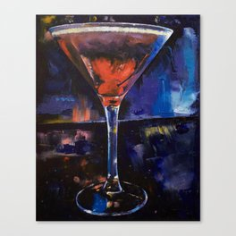 Backstage Martini Canvas Print
