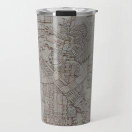Coba Maya Stele Art Yucatan Travel Mug