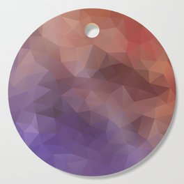 """""""Berry-chocolate smoothie"""" triangles design Cutting Board"""