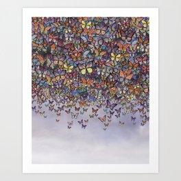 butterfly cascade Art Print
