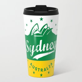 Sydney City, Australia, green yellow, poster Travel Mug