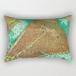 Retro New York Print Rectangular Pillow
