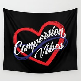Compersion Vibes Poly Heart Wall Tapestry