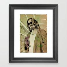 Dude Lebowski Framed Art Print