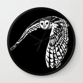 Wild barn owl Wall Clock