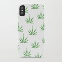 cannabis iPhone & iPod Cases featuring Cannabis   by kristinesarleyart