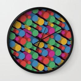 3D X Pipes II Wall Clock