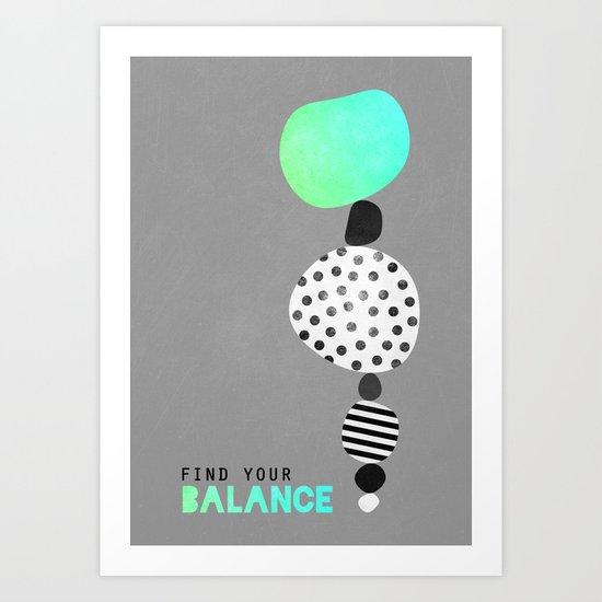 Find Your Balance V2 Art Print