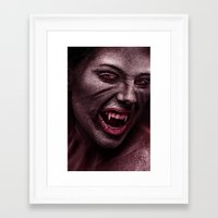 vampire Framed Art Prints featuring vampire by Photoplace