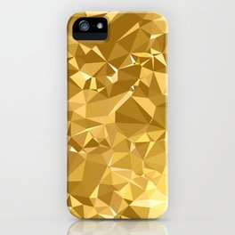 Gold Triangles iPhone Case