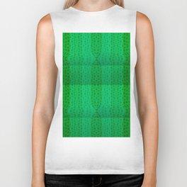 Greenish pattern of borders .. Biker Tank