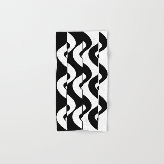 OpArt Waves Hand & Bath Towel