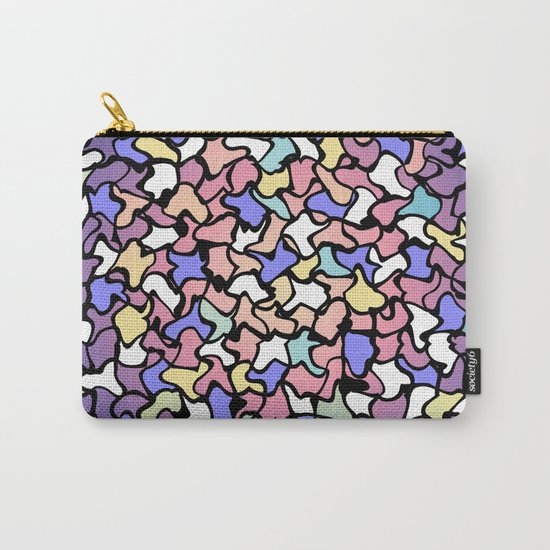 Wobbly Pastel Tone Tiles Carry-All Pouch
