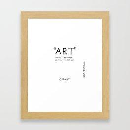''Art'' Framed Art Print