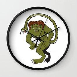 Humbaba Punching Cartoon Wall Clock