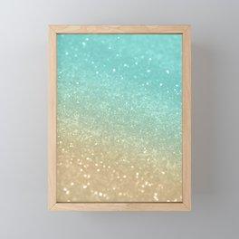 Sparkling Gold Aqua Teal Glitter Glam #1 #shiny #decor #society6 Framed Mini Art Print