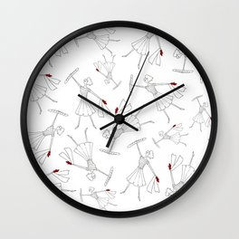 French girls Wall Clock