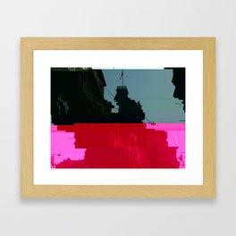 Trieste Glitch 01 Framed Art Print