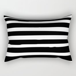 Black and White Stripes Abstract Modern Rectangular Pillow