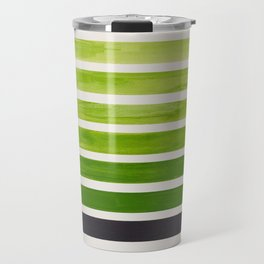 Olive Green Inca Braid Minimalist Geometric Pattern Mid Century Modern Watercolor Painting Travel Mug