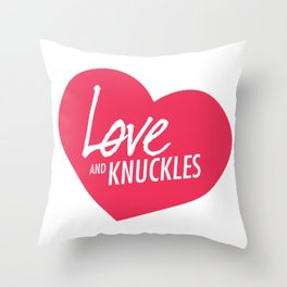 Love and Knuckles (Heart Graphic) Throw Pillow