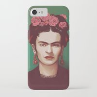 frida iPhone & iPod Cases featuring Frida by ravynka