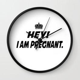I Am Pregnant Wall Clock