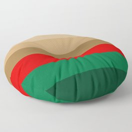 Coffee Irish Flavored Liqueur with Cream - Abstract Floor Pillow