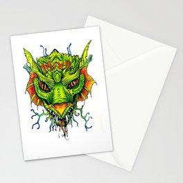 Green Mind Monster Stationery Cards