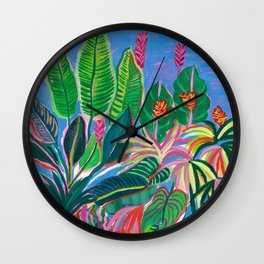 Tropical Patio Wall Clock