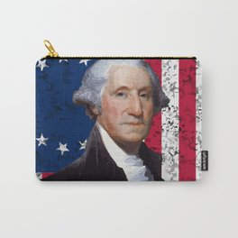 President George Washington and The American Flag Carry-All Pouch