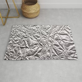 Silver Paper Rug