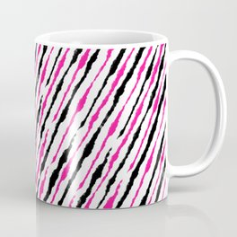 Pink and Black Pattern Coffee Mug