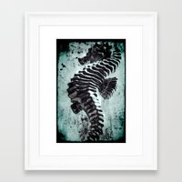 sea horse Framed Art Prints featuring Sea Horse by Bella Blue Photography