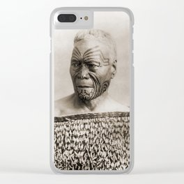 Maori Portrait by Arthur James Iles Clear iPhone Case