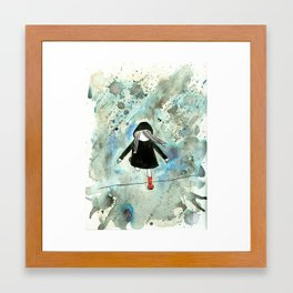 A WET WEDNESDAY IN WELLIES Framed Art Print