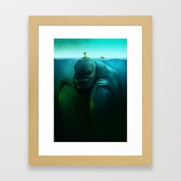 Lonely Island Framed Art Print