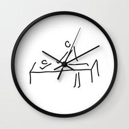 cure massage Wall Clock