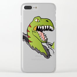 Velociraptor Dinosaur Clear iPhone Case