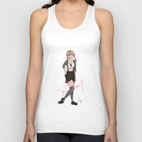 britney Tank Tops featuring Britney by Cerys Edwards