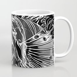 lionfish vector art black white Coffee Mug