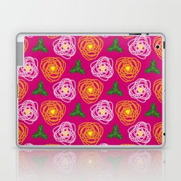 Bright pink floral Laptop & iPad Skin