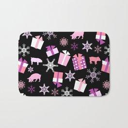 Piggy Pattern Presents Bath Mat