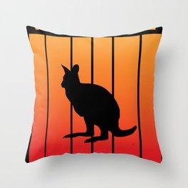 wallaby -Shadowplay at Sundawn Throw Pillow