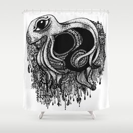 Octopus Yin Yang Shower Curtain
