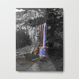 Vernal Falls, Yosemite National Park, Fall 2013, Selective Color Metal Print