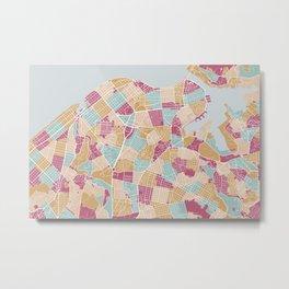 Habana map Metal Print