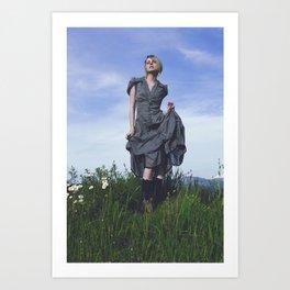 Modern Prairie Girl Art Print